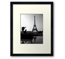 A bullseye view Framed Print