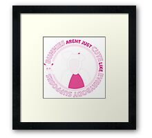 Bunnies Aren't Just Cute Like Everybody Supposes Framed Print