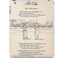 Miniature Under the Window Pictures & Rhymes for Children Kate Greenaway 1880 0011 The Two Boys iPad Case/Skin