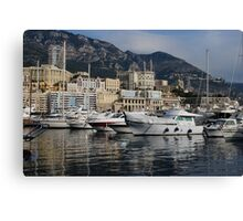 Monte Carlo Harbor, Monaco, French Riviera  Canvas Print