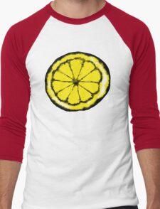 Lemon in the style of stone roses Men's Baseball ¾ T-Shirt