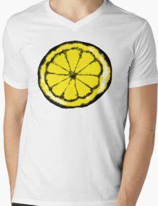 Lemon in the style of stone roses Mens V-Neck T-Shirt