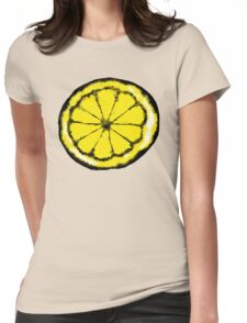 Lemon in the style of stone roses Womens Fitted T-Shirt