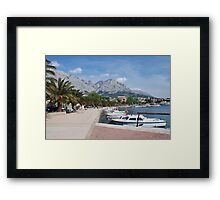 Baska Voda harbour, Croatia Framed Print