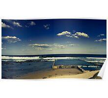 Public Pool - NSW coast Australia Poster