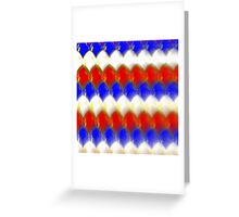 Red White & Blue Spotty Scales Greeting Card