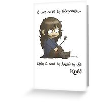 An Arrow in the Knee Greeting Card