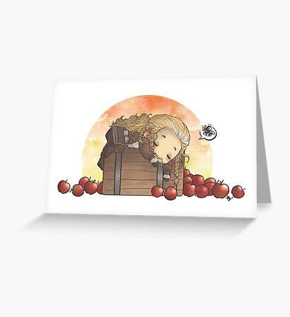 Apple nightmares Greeting Card