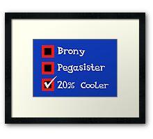 Brony Fandom Checklist Framed Print
