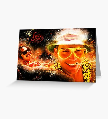 Fear and Loathing in Las Vegas - Alternative Movie Poster Greeting Card