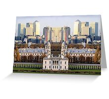 London Docklands reflection Greeting Card