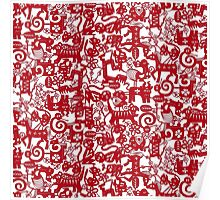 paper zodiac red Poster