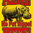 Please! No Pet Hippo! Bite! by ChasSinklier