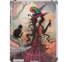 October Flame Witch Cat Halloween Fantasy Art iPad Case/Skin