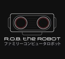 R.O.B. The Robot - Retro Minimalist - Black Clean by garudoh