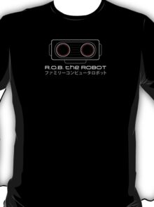 R.O.B. The Robot - Retro Minimalist - Black Clean T-Shirt