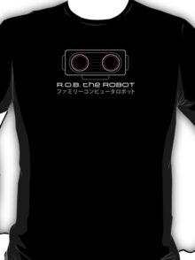 R.O.B. The Robot - Retro Minimalist - Black Clean T-Shirt