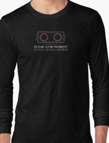 R.O.B. The Robot - Retro Minimalist - Black Clean Long Sleeve T-Shirt