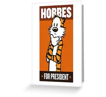 President Hobbes Greeting Card