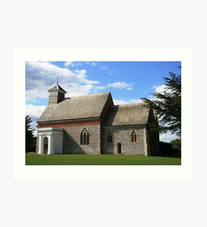 Flint church in Kent Art Print
