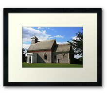 Flint church in Kent Framed Print