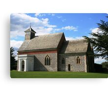 Flint church in Kent Canvas Print