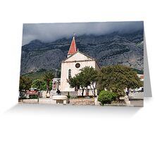 St. Marks church, Makarska Greeting Card