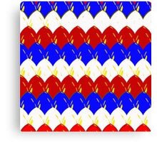 Red White & Blue Dragon Scales Canvas Print