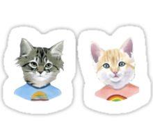 Kittens in T-Shirts Sticker