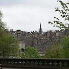Edinburgh old town from Princes Street Gardens by BronReid