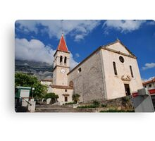 Church of St. Mark at Makarska, Croatia Canvas Print