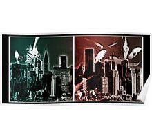 metropolis skyline Poster