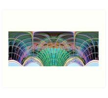 Modern building abstract Art Print