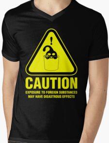 Suu Hazard Sign, Mischievous Version (English text, for dark backgrounds) Mens V-Neck T-Shirt