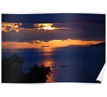 Brela sunset, Croatia Poster