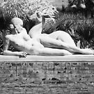 NUDE WOMAN AND DEER, STATUE by RGHunt