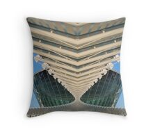 Modern building reflection Throw Pillow