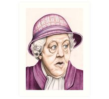 The original Miss Marple : Dame Margaret Rutherford (501 views as at 16th August 2011) Art Print