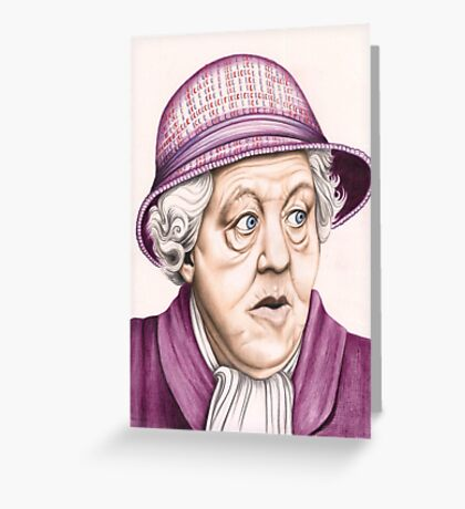 The original Miss Marple : Dame Margaret Rutherford (501 views as at 16th August 2011) Greeting Card