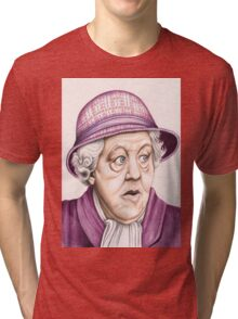 The original Miss Marple : Dame Margaret Rutherford (501 views as at 16th August 2011) Tri-blend T-Shirt