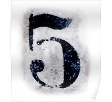 Dirty five, NUMBER 5, FIFTH, 5, FIVE, Competition, TEAM SPORTS, Poster