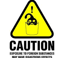 Suu Hazard Sign, Mischievous Version (English text, for light backgrounds) by LoganAgle