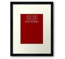 R.O.B. The Robot - Retro Minimalist - Red Clean Framed Print
