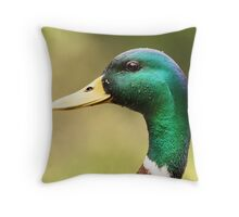 A Mallard of Many Colors Throw Pillow