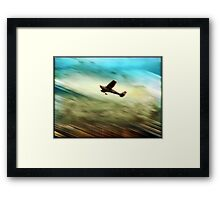 ©DA Flying By IA. Framed Print
