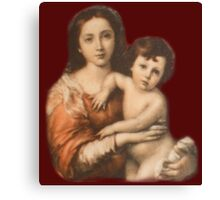 Christ, Madonna and Child, Religion, Biblical, Miracle, Religious Icon Canvas Print