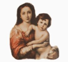 Christ, Madonna and Child, Religion, Biblical, Miracle, Religious Icon Kids Clothes