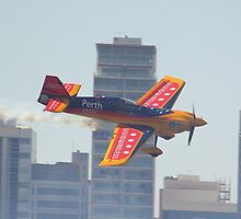 Matt Hall At Perth Round of Red Bull Air Race 2010 by Stephen Horton