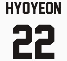 SNSD Hyoyeon Jersey One Piece - Short Sleeve
