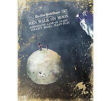 Men walk on Moon Astronauts  Photographic Print